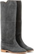 CLEAVE CONCEALED WEDGE SUEDE BOOTS