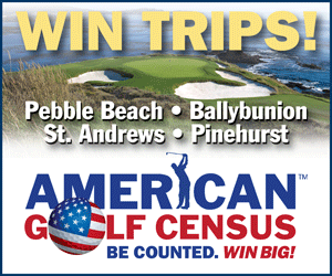 American Golf Census Sweepstakes Announces First Winners of $100,000