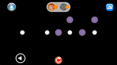 Users bounce and connect the colored dots while avoiding challenging obstacles.