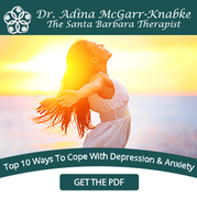 About MySantaBarbaraTherapy.com: Known as The Santa Barbara Therapist, Dr. Adina McGarr-Knabke received a Doctorate in Clinical Psychology from Phillips Graduate Institute in 2007.