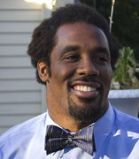 Dhani Jones Sports His New Michigan Bow Tie