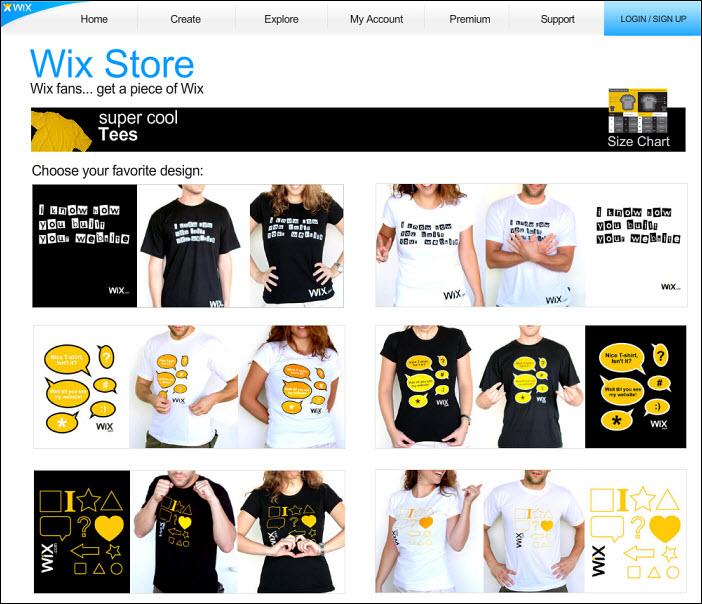 cool wix gear offered on new online store by website builder. Black Bedroom Furniture Sets. Home Design Ideas