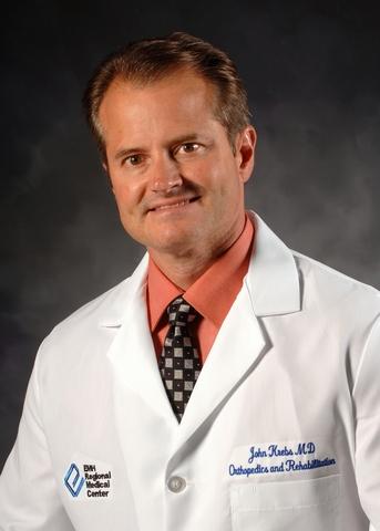 Board-certified hand surgeon John K. Krebs, MD
