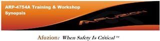 New ARP-4754A Training Workshop Offered by Afuzion Inc