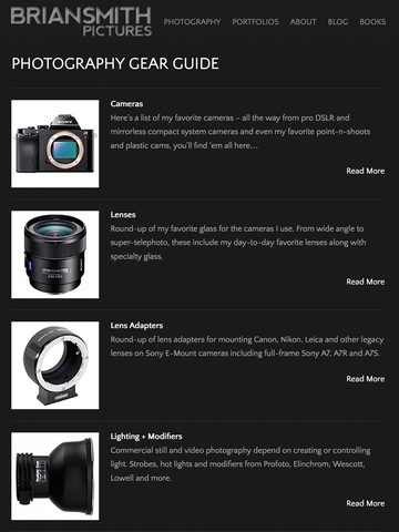 Photography Gear Guide - Brian Smith Pictures