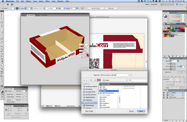 AlphaCorr Dieline Genius 3D for Adobe Illustrator