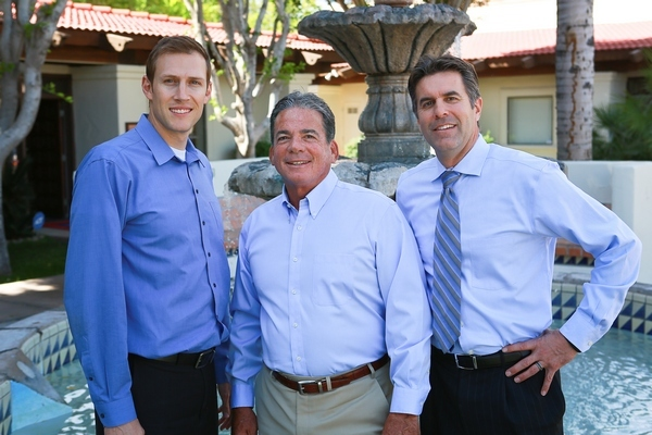 From left: Dr. Chet L. Jenkins, Dr. Stevan K. Forney, and Dr. Jason B. Nelson