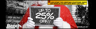 25% off Bench clothing