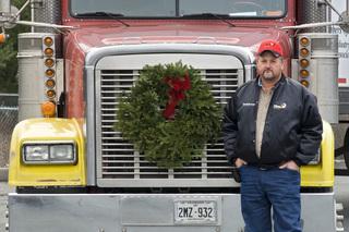 Fikes Truck Line Volunteers Trailer for Wreaths Across America
