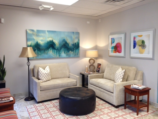 The waiting room at Lumin ConvenientCARE is comfortable and inviting.