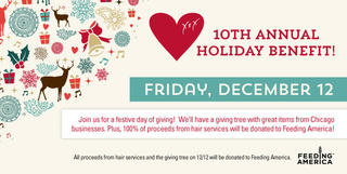 XEX Hair Gallery Hosts 10th Annual Holiday Event Benefiting Feeding America
