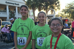 Kids from the Boys & Girls Club in Dunnellon participated in the Reindeer Run.