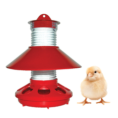 New Chick Feeder Keeps Food Cleaner & Can Be Used Outdoors When Chicks Mature