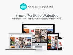 Responsive HTML5 websites for creative professionals