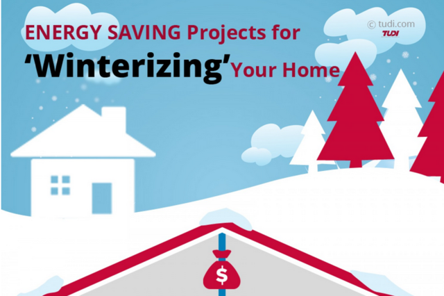 Cut you energy costs this winter with Tudi's energy saving tips and DIY projects.