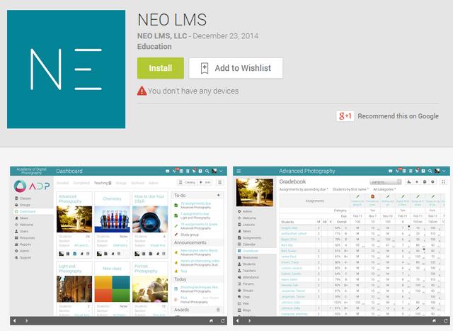 NEO mobile app