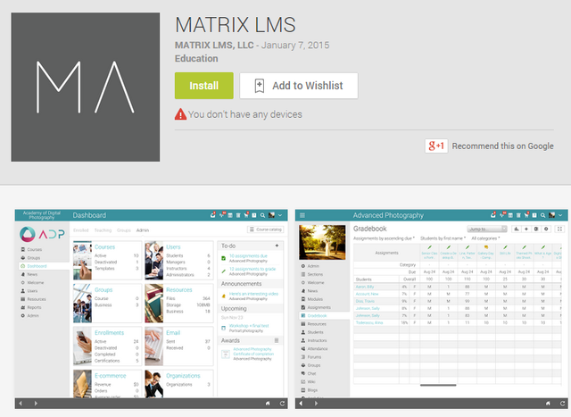 Matrix mobile app