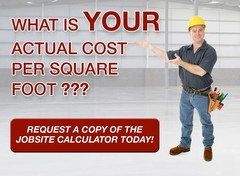 WerkMaster Jobsite Calculator - How to Estimate the Actual Cost per Square Foot of Prepping, Coating or Polishing a Concrete Floor