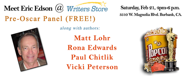 Eric Edson To Speak at February 21st Writers Store Pre-Oscars Panel