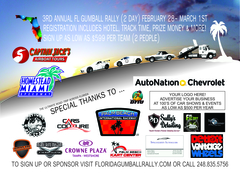 For immediate release Florida Gumball Rally 2015 route.<br /> contact: Randy GumballRally Kohler