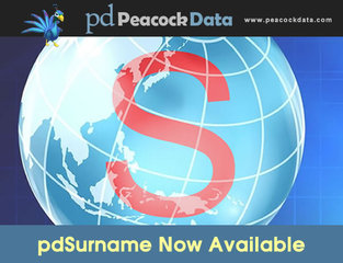 Peacock Data discusses key features of new pdSurname last name software