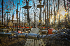 There are 10 different aerial trails to choose from at The Adventure Park, from introductory to advanced. (Photo: Outdoor Ventures)