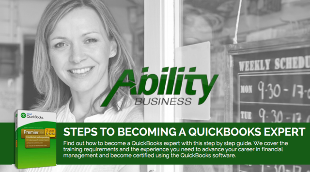 Let the pros at Ability Business help you become a QuickBooks expert on your way towards better backend management.