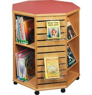 mobile octagonal library book display