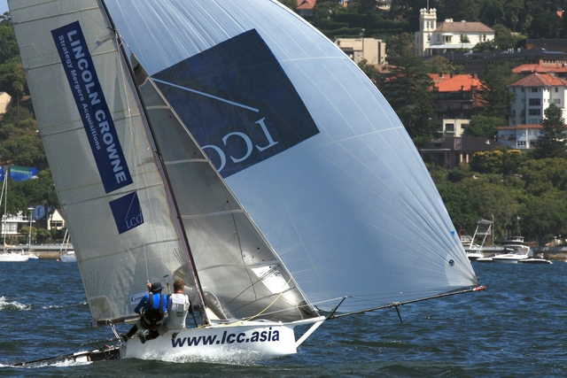 Lincoln Crowne & Company 12 Foot Skiff Flying On Beautiful Sydney Harbour