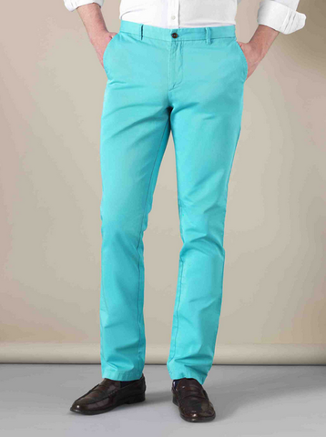 One of the brightly colored Tom Cridland trousers
