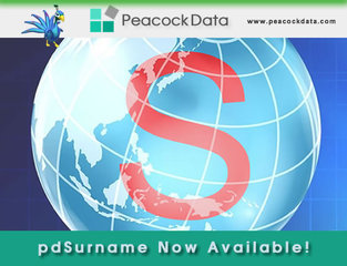 Peacock Data introduces phonetics in new pdSurname software offering