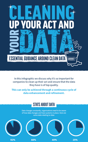 Essential Guide to Clean Data Infographic by Baker Goodchild