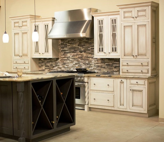 Create a beautiful kitchen backsplash with recycled granite using Savvy Home Supply's Zenstone™ tile.