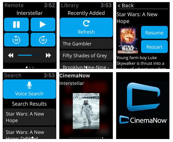 CinemaNow screenshots