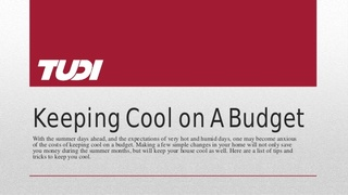 Tudi Helps Homeowners Keep Cool Without Breaking the Bank This Summer