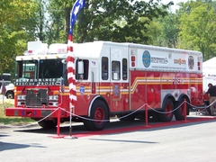 Former FDNY Rescue on display earlier this summer.