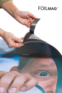Magnet receptive foil tape makes it easy to use magnets in displays or signage