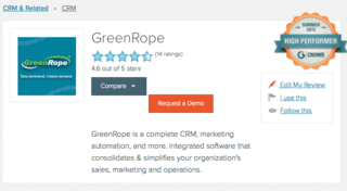 GreenRope Sits Alongside Some of the CRM and Marketing Automation Industry's Biggest Players