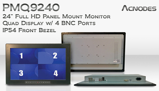 Acnodes' 24 Inch Full FD Panel Mount Quad Display Monitor