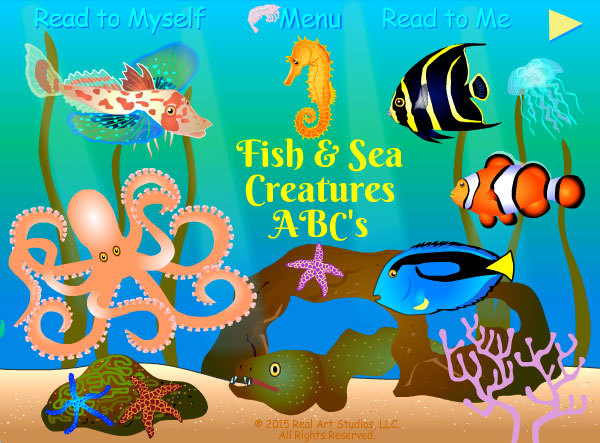 Fish & Sea Creatures ABCs Best App for kids.