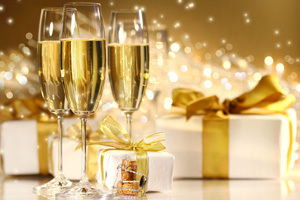 Champagne and Gift Card orders are huge money makers.