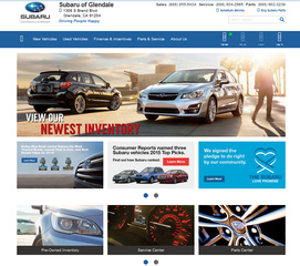 Subaru of Glendale is Proud to Announce the Launch of Their New Look Website and Genuine Subaru Parts Online Store