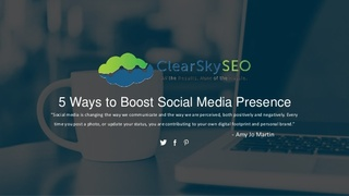 Boost Your Brand's Social Media Marketing Efforts with Help from Clear Sky SEO
