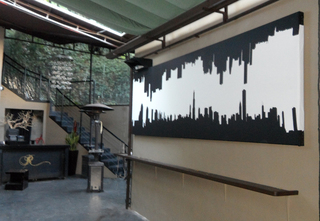 QuietFiber® Noise Dampening Product by Acoustiblok, Inc., Hidden in Plain Sight at Los Angeles's Chic R Lounge