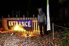 A werewolf welcome at the entrance to The Haunted Forest at the The Adventure Park at Frankenmuth. Actors portray characters at the Halloween season event. (Photo: Outdoor Ventures)