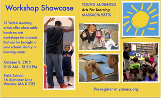 Young Audiences of Mass. Presents Free Workshop Showcase Oct. 8