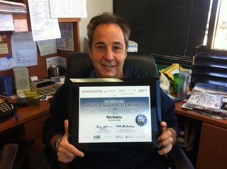 The Event Team's Matt Robbins honored at San Diego Business Journal's Most Admired CEO Awards