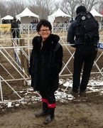 Louisville sports medicine doctor Stacie Grossfeld MD serving as event doctor for Louisville-area cyclocross event.