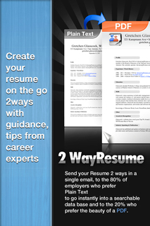 2WayResume Iphone, Ipad Fills Critical Void In Job Search, Job Placement