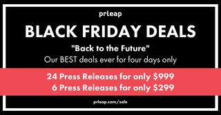 "PRLeap Goes ""Back to the Future"" for Press Release Deals on Black Friday"